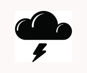 THUNDER-STORM-Sticker-Car-Vinyl-Window-Decal-Laptop-Cloud-Rain-Lightning-Fun-LOL
