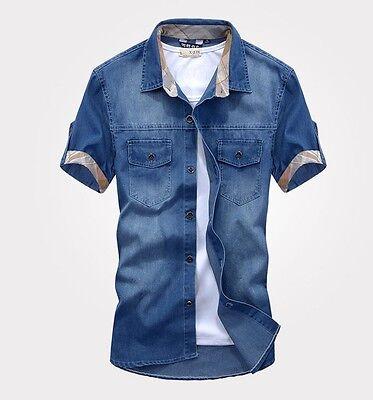 ZD75 New fashion Men's Jeans Casual Slim Fit Stylish Wash-Vintage Denim Shirts
