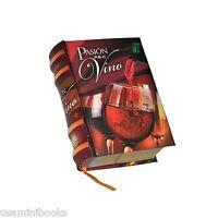 Pasion Por El Vino Spanish Miniature Book Readable Hardcover A Great Gift
