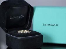 Tiffany 18K Yellow Gold 0.85ct Round Baguette Diamond Ring Wedding Band Vintage