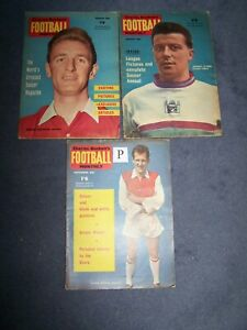 3-Charles-Buchan-039-s-Football-Monthly-1961-March-August-and-Nov-P