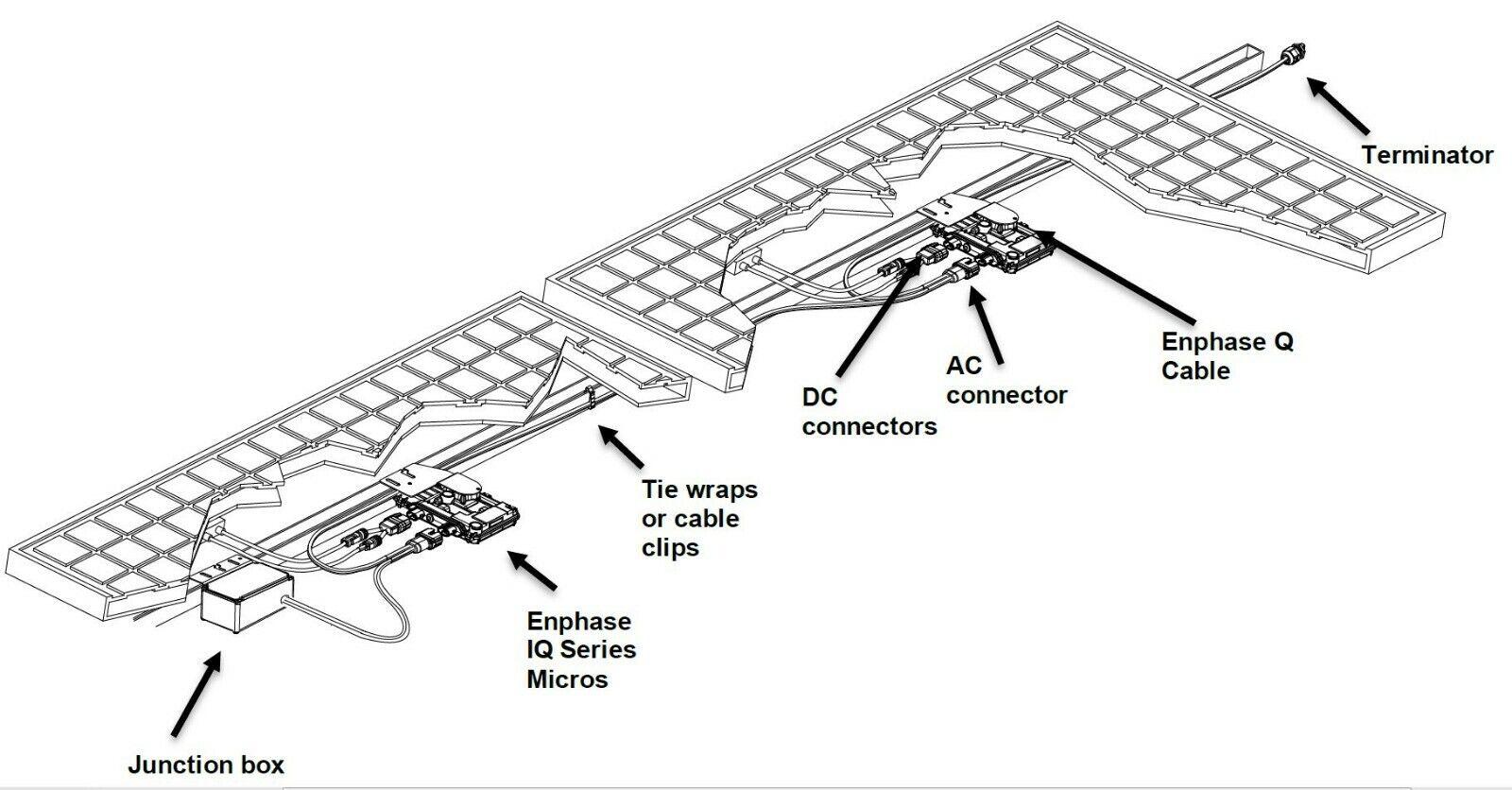 Enphase Iq40 Grid Tie Solar Micro Inverter Iq40 400 40 us 400 Cell