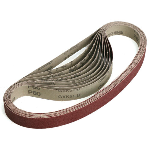 """1//5pcs 1/""""x30/"""" Sanding Belts 25x762mm Aluminum Oxide Sander Abrasive 60-1000 Grit"""