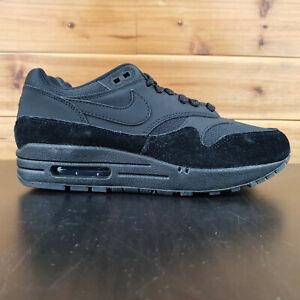 NIKE-AIR-MAX-1-WOMEN-039-S-SHOES-TRIPLE-BLACK-SUEDE-319986-045-Sneakers