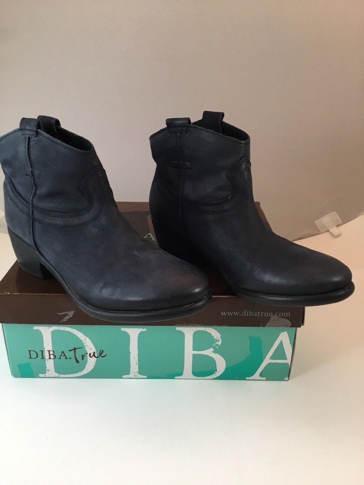 DIBA True 34210 Moon River Grey Leather NiB Women's 7.5 Ankle Boot