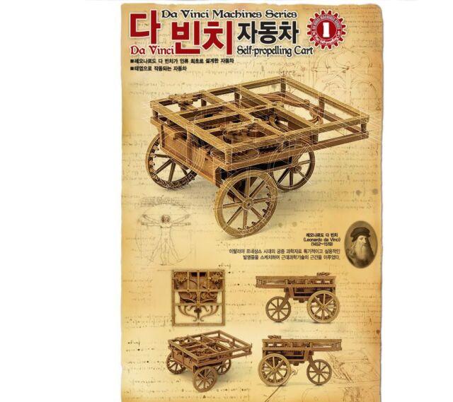 ACADEMY Leonardo Da Vinci Machines Series Self propelling cart Model KIT #18129a