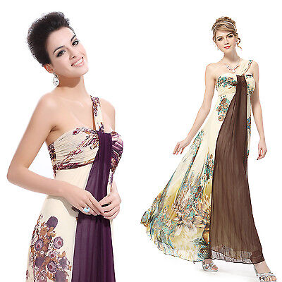 Ever Pretty One Shoulder Floral Printed Evening Dress 09356