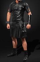 Lederkilt Schottenrock Kilt aus feinem Leder leather kilt