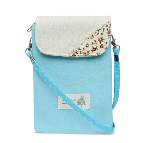 Women Ladies Floral Cross body Coin Purse Mini Pouch Girl Embroidered Wallet Bag