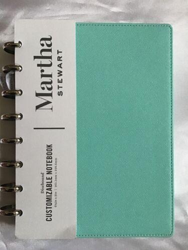 New Office by Martha Stewart Discbound Customizable Notebook Junior Size Blue