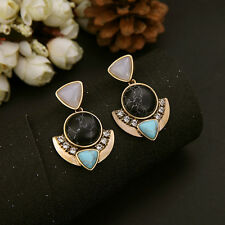 Fashion Women Jewellery Boho Ethnic Gemstone Drop Earrings for Party Gifts
