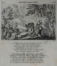 1679 Bibel Biblia die Hure Babylon Kupferstich Küsel