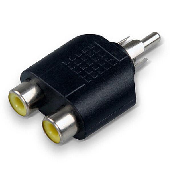 RCA Y Splitter AV Audio Video Plug Converter 1 Male to 2 Female Cable Adapter