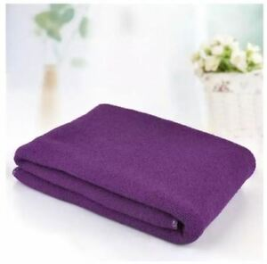 Set-of-2-Luxury-Durable-Fast-Drying-Microfiber-Bath-Towel-VIOLET