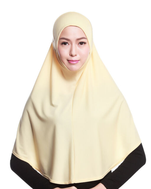 Muslim Women Prayer Head Long Scarf Hijab Cotton Islamic XXLarge Overhead