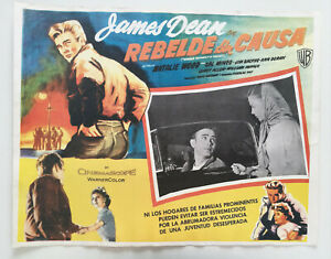 James-Dean-Rebel-sans-Cause-Or-Mexique-Lobby-Card-50s-Natalie-Wood-Movie-Poster