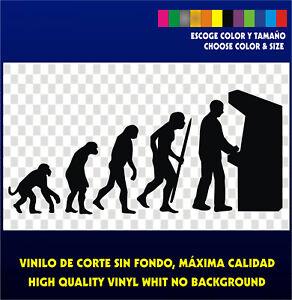 Sticker-Vinilo-Evolution-to-Arcade-Bartop-Evolucion-Pegatina-Vinyl-Aufkleber