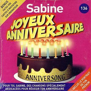 Joyeux Anniversaire Sabine 10 Titres Ebay