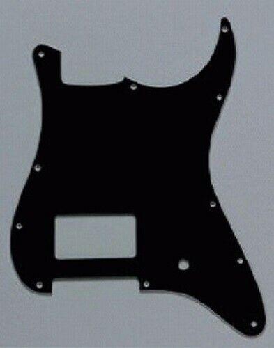 Strat Pickguard BLACK 1 Humbucker NEW 1 Pot Hole