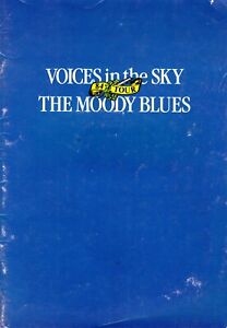 MOODY BLUES 1984 VOICES IN THE SKY TOUR CONCERT PROGRAM BOOK BOOKLET-VG TO NMT