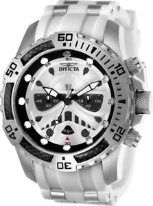 Invicta-26183-Star-Wars-Men-039-s-Chronograph-51mm-Stainless-Steel-Silver-Dial-Watch