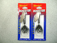 2 X Yakima Bait , Wordens , 3/8 Oz , Rooster Tail Spinners - Flash Black -