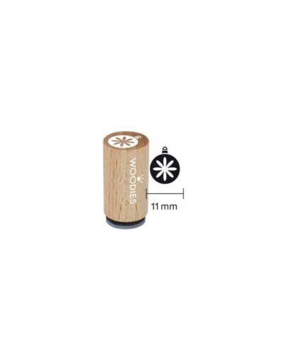 mm 11 WM0708 timbro in legno woodies sfera di natale diam