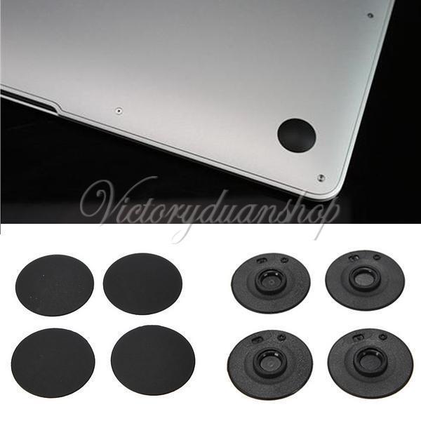 "4Pcs Unibody Bottom Case Rubber Feet Foot For MacBook Pro 13/15/17"" Black"