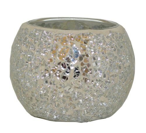 Antique Modern Glass Effect Bowl Candle Holders