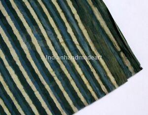 By-The-Yard-Handmade-Indigo-Blue-Fabric-Indian-Hand-Block-Print-Fabric-Jaipuri