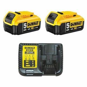 DEWALT LOT 2x DCB182 batteries originales 5 Ah +1x DCB115 chargeur originale*24h