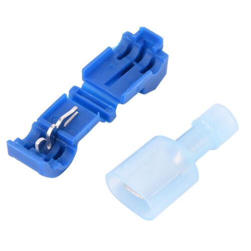 New 60X T-Tap//Male Female Insulated Wire Quick Splice Terminal Connector Set RI