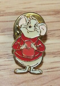 Genuine-Disney-The-Rescuers-Bernard-Standing-with-Hat-Enamel-Collectible-Pin