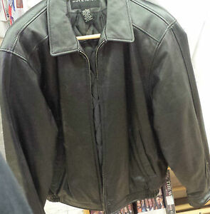 e3f53f045 Details about Croft and Barrow Black Leather Jacket Coat Size M