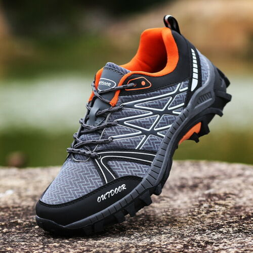 Mens Breathable Outdoor Climbing Trail Shoes Hiking Non-slip Waterproof Falts