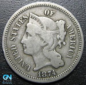 1874-3-Cent-Nickel-Piece-MAKE-US-AN-OFFER-R8809