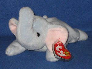 6acdcb2ef0a TY PEANUT the LIGHT BLUE ELEPHANT BEANIE BABY - MINT with MINT TAG ...
