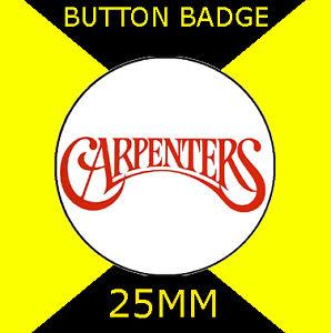 25mm -CD6754823 KAREN AND RICHARD 4 GREAT BUTTON BADGES CARPENTERS