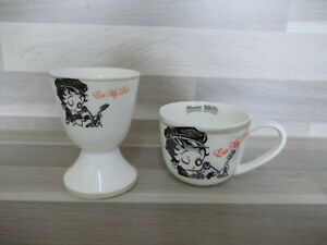 Nice-set-of-espresso-cup-amp-egg-cup-Betty-Boop-design-Born-Wild-2006-Eat-my-dust