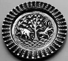 Good Quality Antique Indo Persian Islamic Solid Silver Pin Dish; Lucknow c1890
