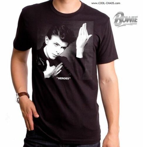 Official Bowie Mens Tee,Bowie Tribute Tee David Bowie T-Shirt BOWIE HEROES