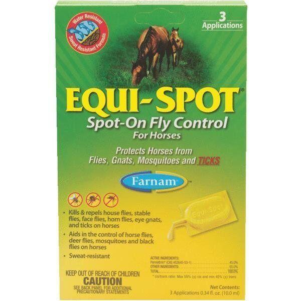 24 Pk Equi-Spot Spot-On Fly Repellent For Horses (3) 10 Ml Tubes Pk 100506084