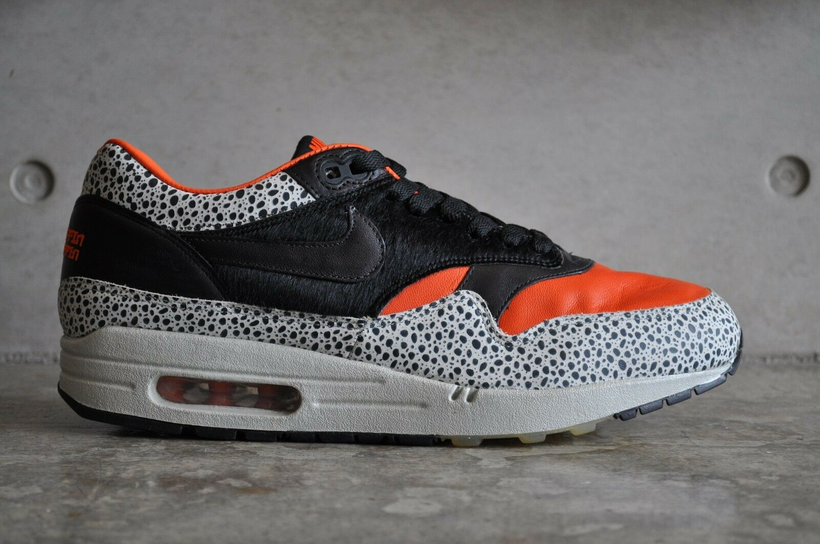 Max 1 Safari Supreme QK Nike Air Safari 1 2008Saftey Naranja/Negro Odd par 7 8 Reino Unido 863064