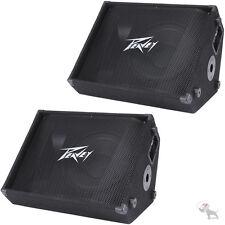 """Peavey (2) PV12M  2-Way 12"""" Passive Stage Floor Monitor 500W Each Speaker Pair"""