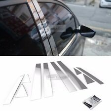 Stainless Steel Chrome Window Pillar Molding 10P For HYUNDAI 2011-2014 Sonata YF