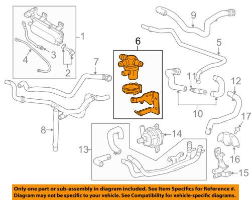 GM OEM Heater Hose-Cooling-Shut-off Valve 22987494