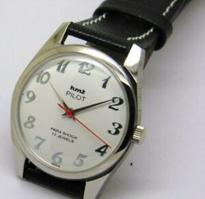 Details about HMT PILOT MEN,S STEEL HAND WENDING WHITE DIAL MADE INDIA  WATCH RUN ORDER