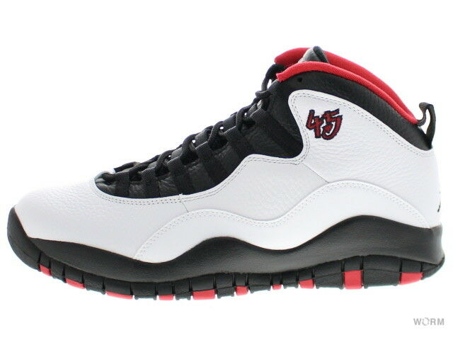 JORDAN RETRO 10  doble AIR NICKEL  310805-102 blancoo Negro-verdadero rojo 10