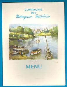 1962 -menu à Bord 1ère Classe- Compagnie Maritime- Ile De Bréhat - F.de.lesseps Eoxg9eco-07224921-540070029
