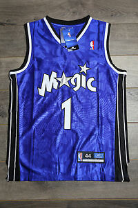 uk availability b735c 389b1 Details about Tracy McGrady #1 Orlando Magic Jersey Blue Throwback White  Vintage Classic Retro